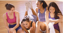 Female Workout Class Group